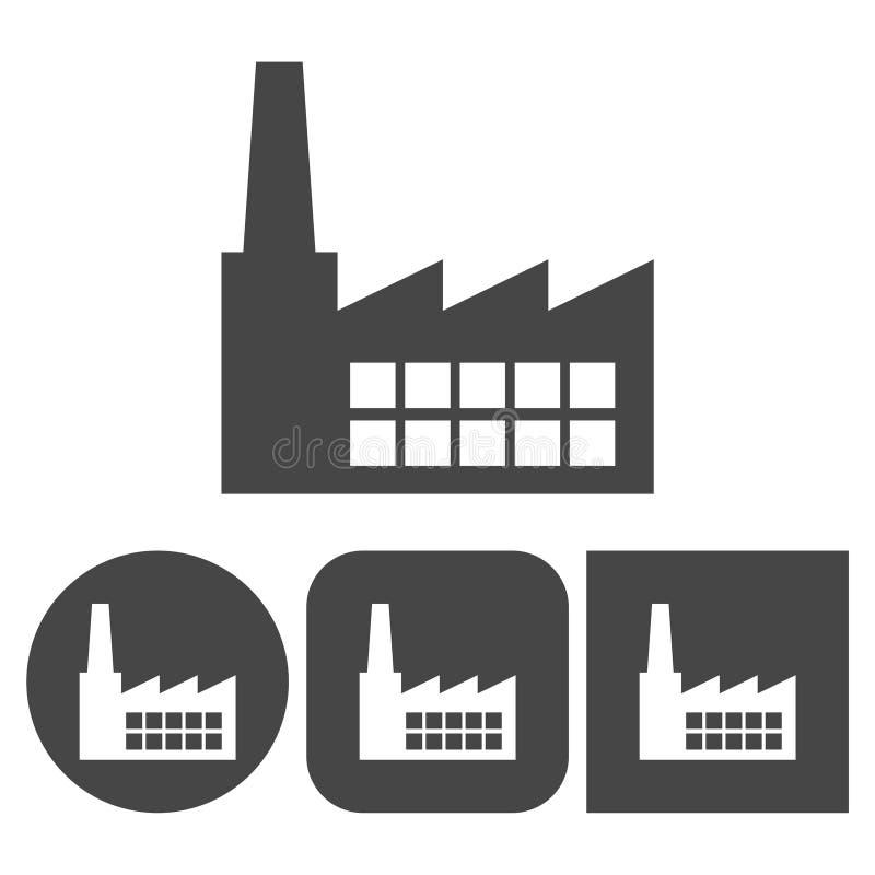 工厂象-被设置的传染媒介象 皇族释放例证