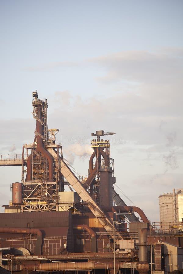 工厂重工业钢 库存图片