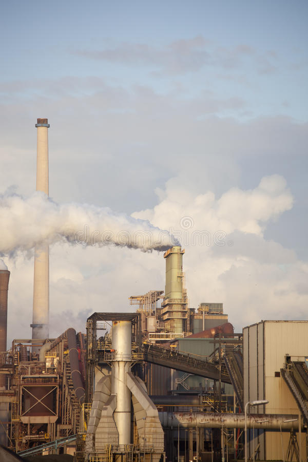 工厂重工业钢 免版税库存图片
