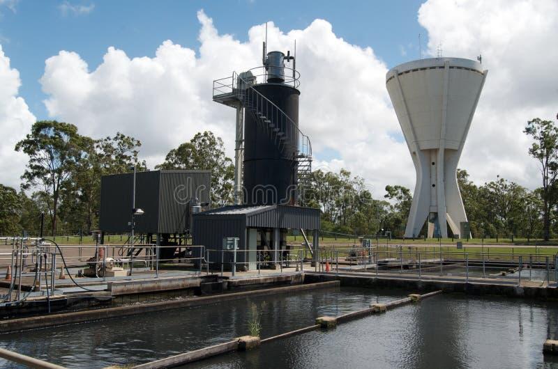 工厂雨处理水 库存照片