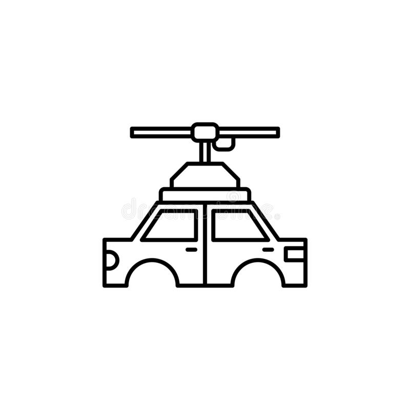 工厂,汽车,生产象 生产象的元素流动概念和网apps的 稀薄的线工厂,汽车,生产象 库存例证