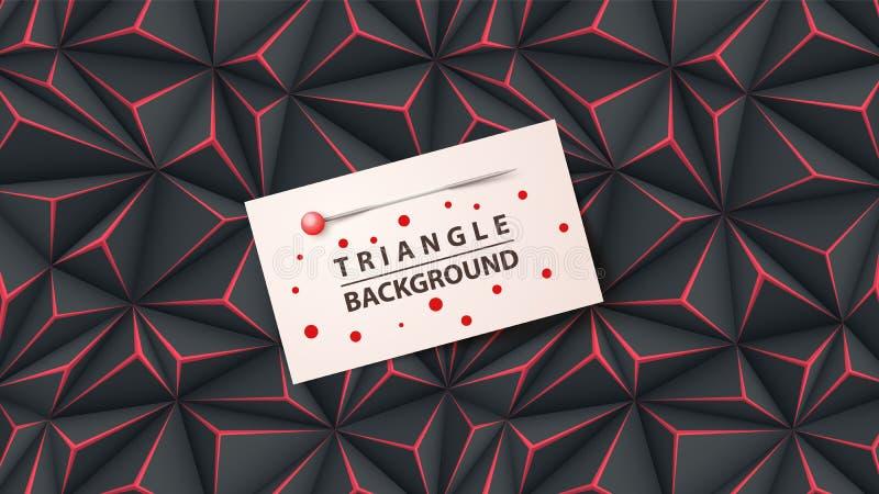 工商业票据模板- origami背景 皇族释放例证