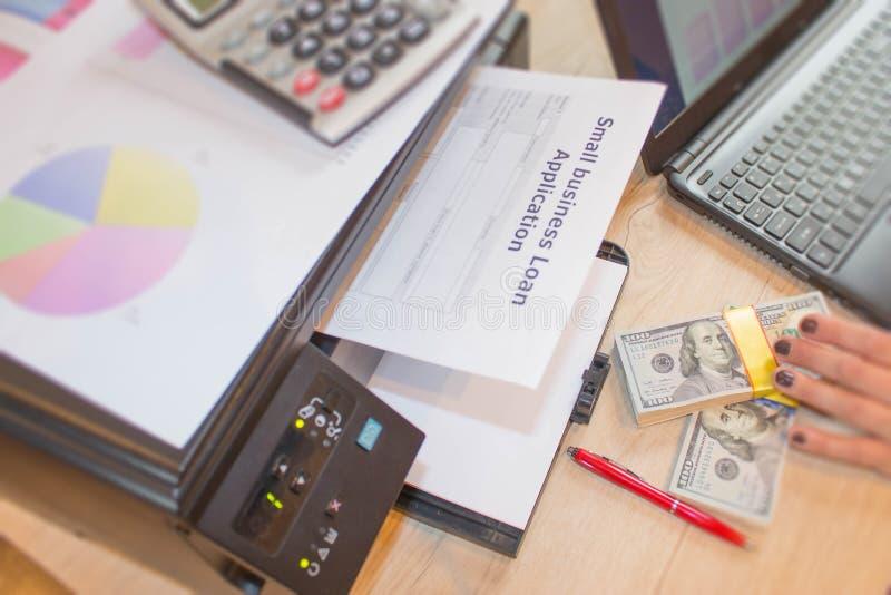 工商业贷款工作 与坏个人信贷的工商业贷款 库存图片