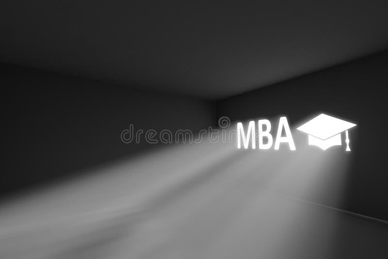 工商管理硕士发出光线容量光概念 向量例证