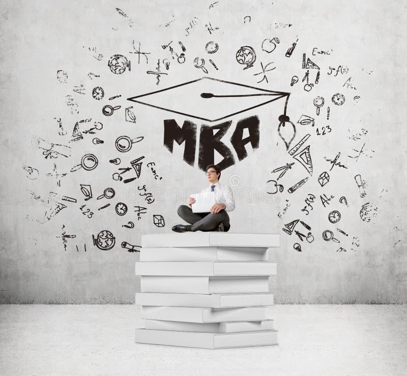 工商管理硕士教育 向量例证