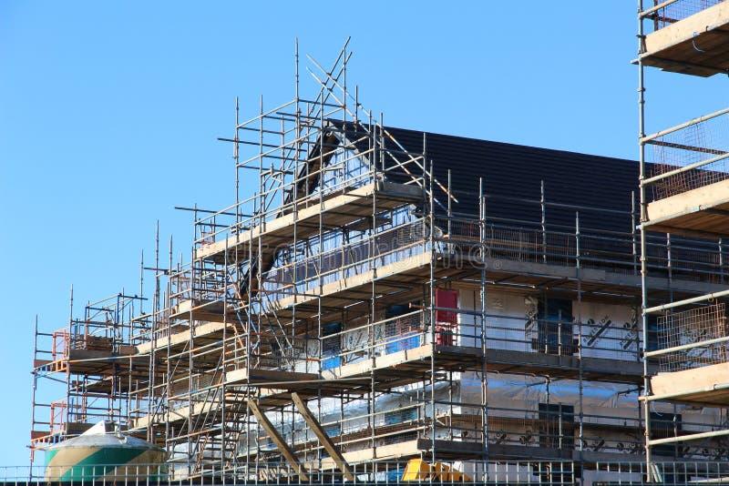 工地工作在爱丁堡 免版税库存照片