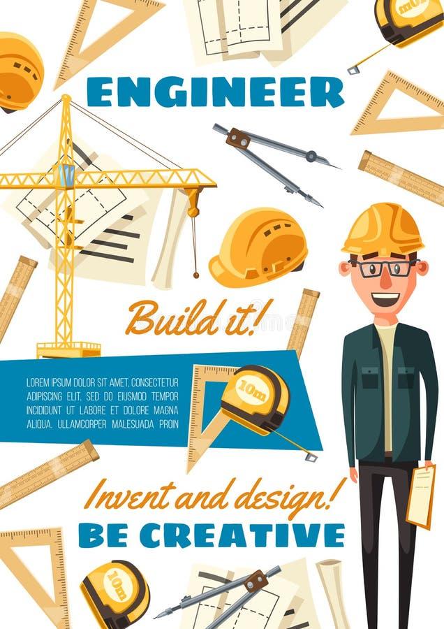 工地工作建造者工程师行业 库存例证