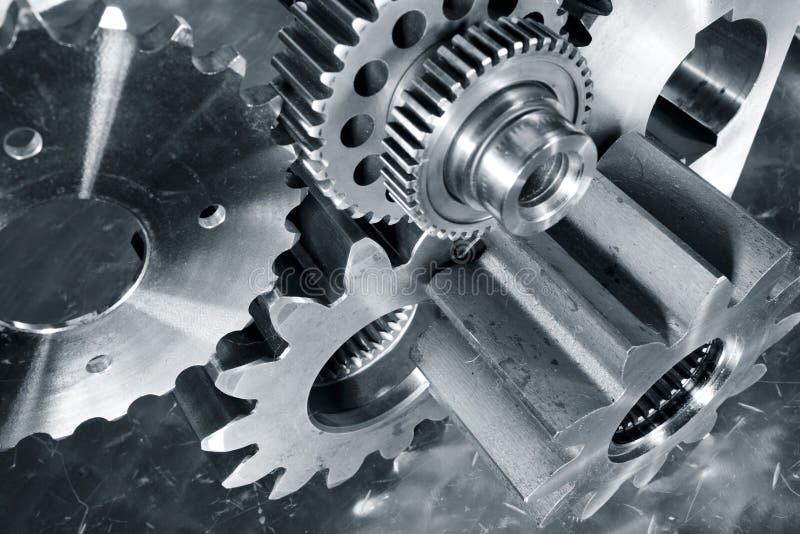 工程学和技术、齿轮和嵌齿轮 免版税库存图片