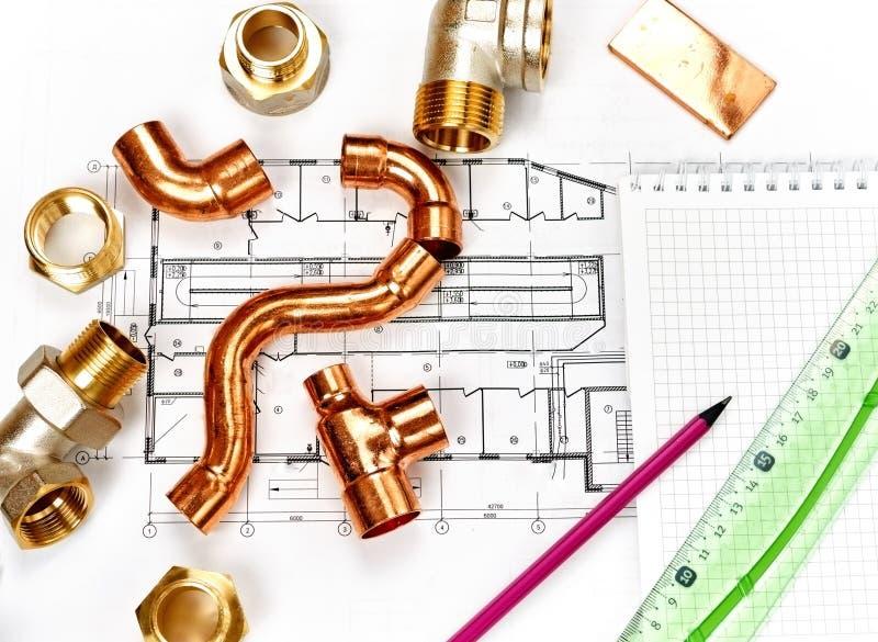 工程学热化 概念热化 热化项目房子的 库存图片