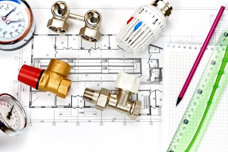 工程学热化 概念热化 热化项目房子的 库存照片