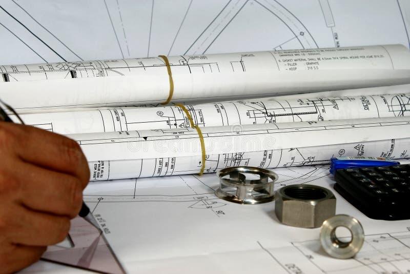 工程工具 免版税库存图片