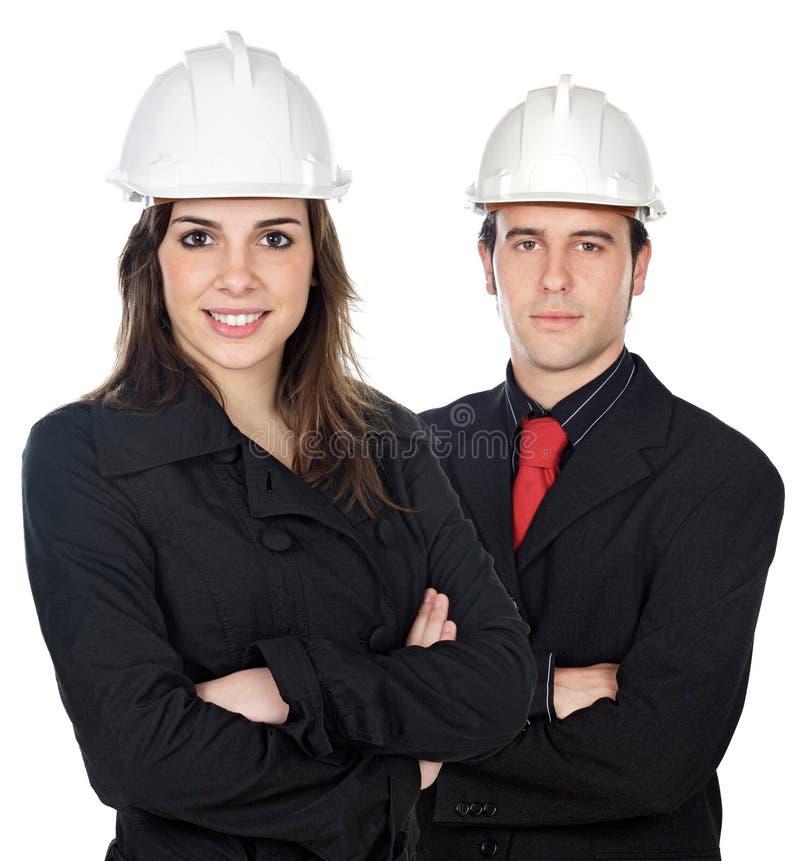 工程师二个年轻人 免版税图库摄影