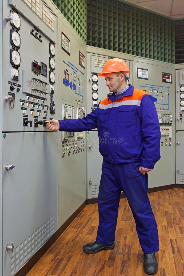 工程师发动涡轮 免版税库存照片