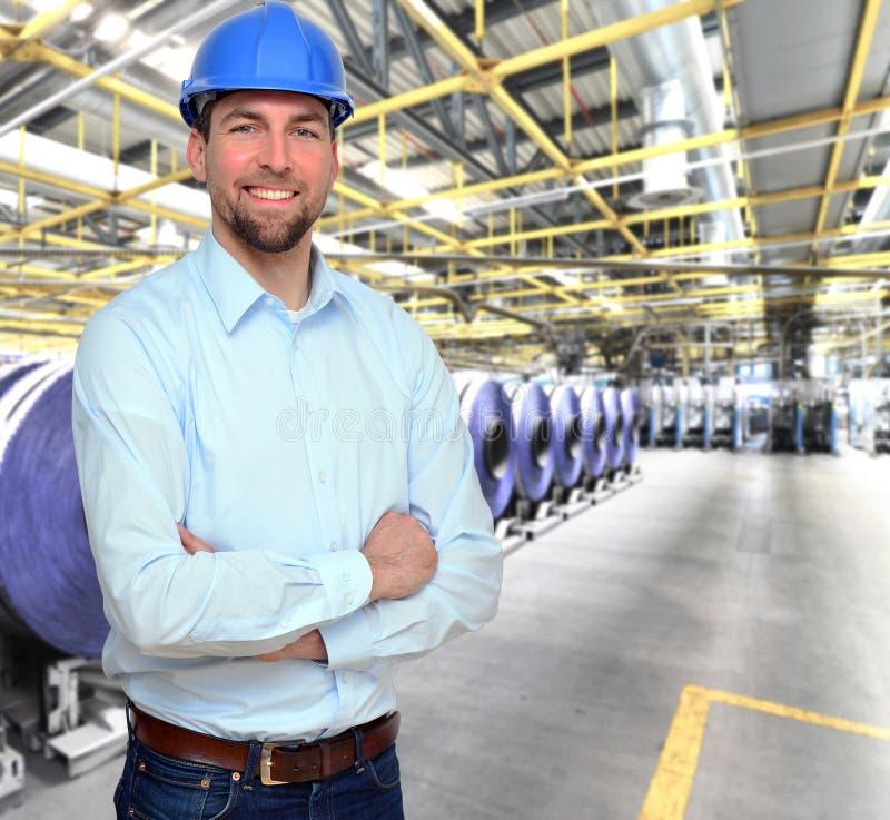 工程师在印刷业-每日n的生产工作 免版税库存照片