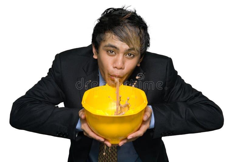 工程师安全帽印地安人呕吐年轻人 免版税库存照片
