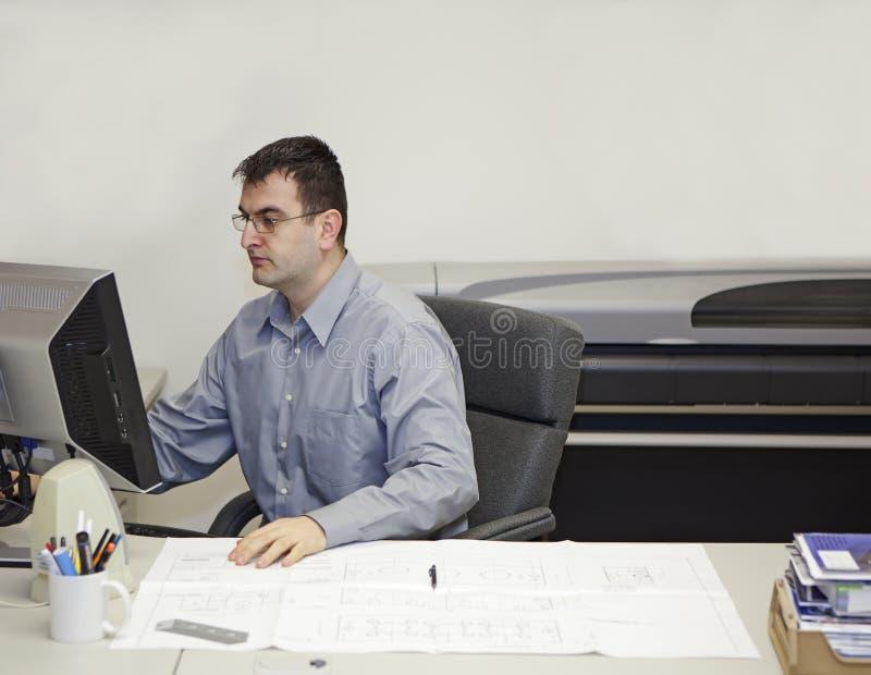 工程师工作 免版税库存照片