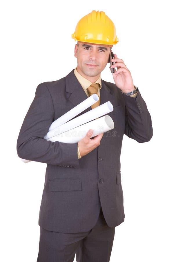 工程师成功的年轻人 免版税库存照片
