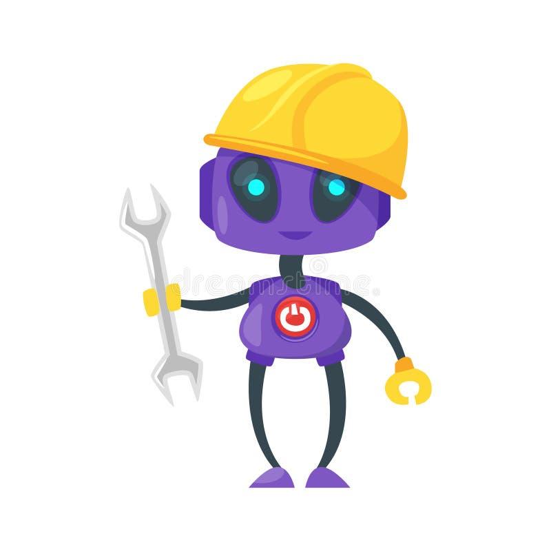 工程师或工作者机器人 向量例证