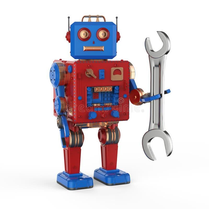 工程师机器人概念 皇族释放例证