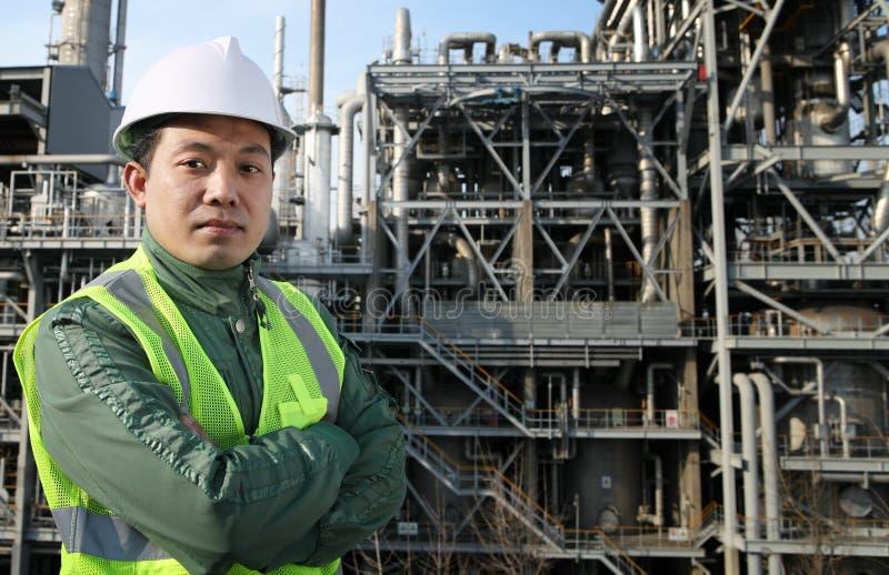工程师炼油厂 图库摄影