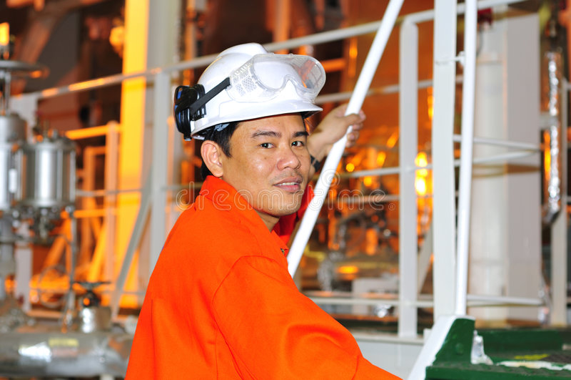 工程师菲律宾发运 图库摄影