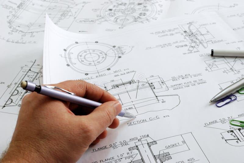 工程师s工作 免版税图库摄影