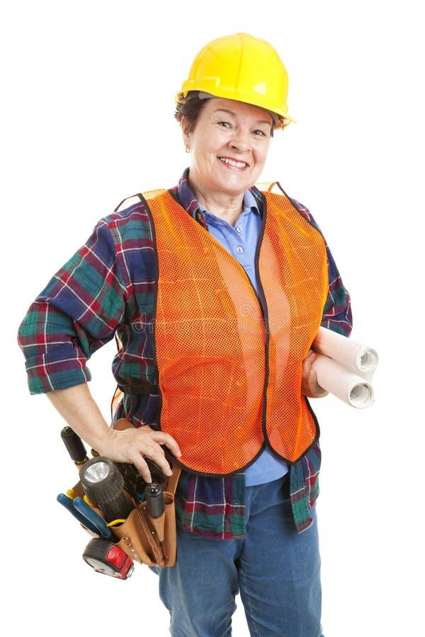 工程承包商女性 免版税库存照片