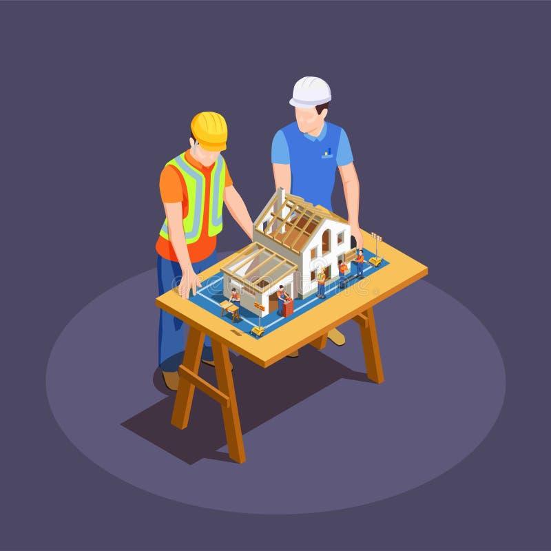 工程项目等量构成 向量例证
