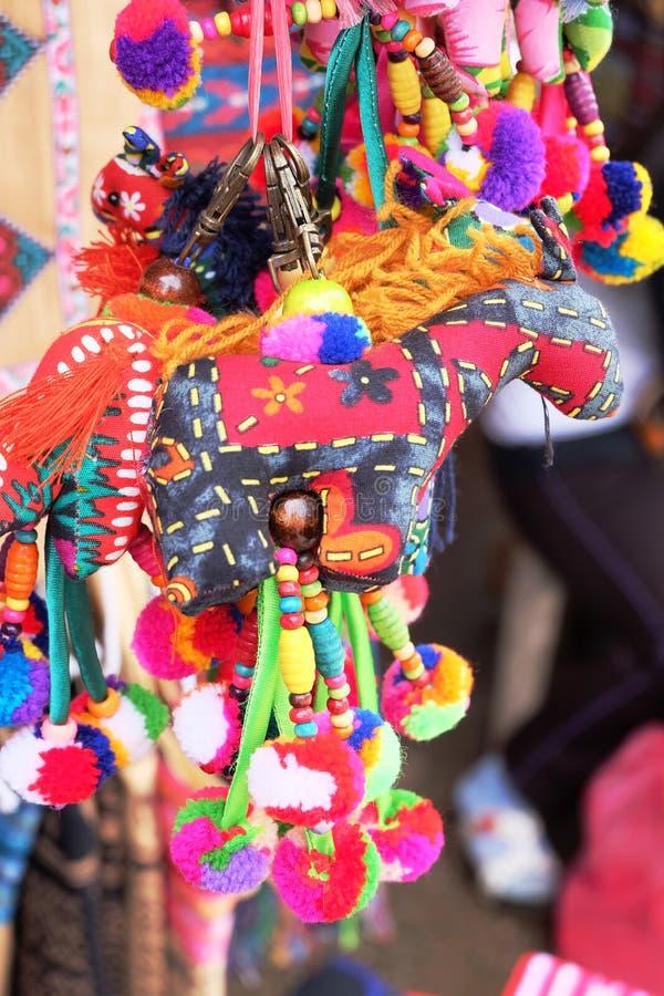工艺玩偶在清莱,泰国 免版税库存照片