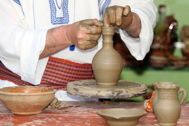 工艺陶瓷工工具轮子 免版税图库摄影