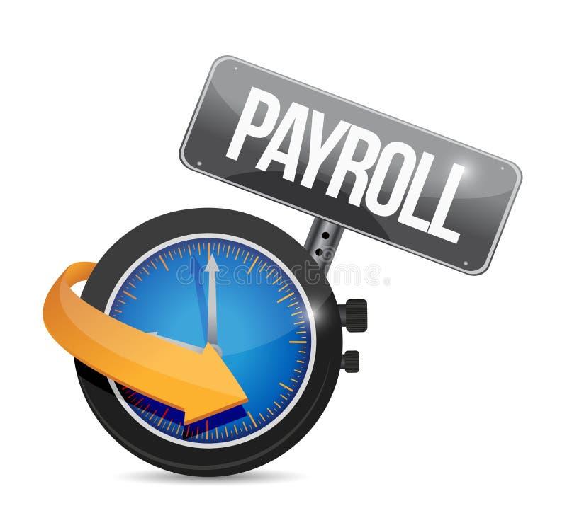 工资单时间标志概念例证设计 库存例证