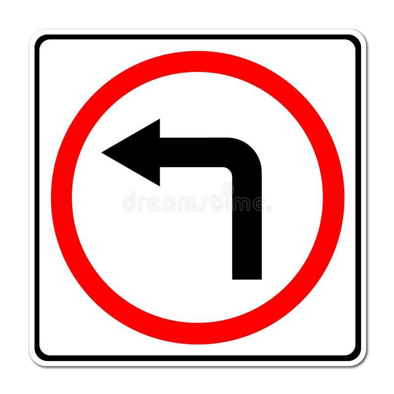 左拐路标 库存例证