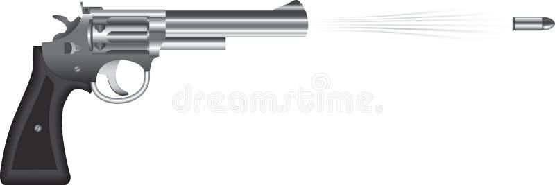 左轮手枪 向量例证