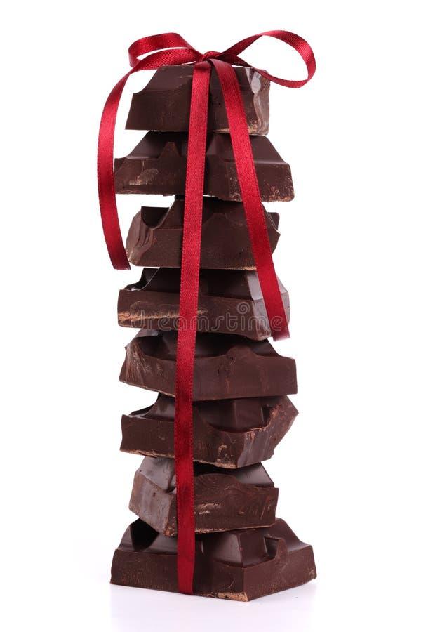 巧克力丝带缎 免版税库存照片