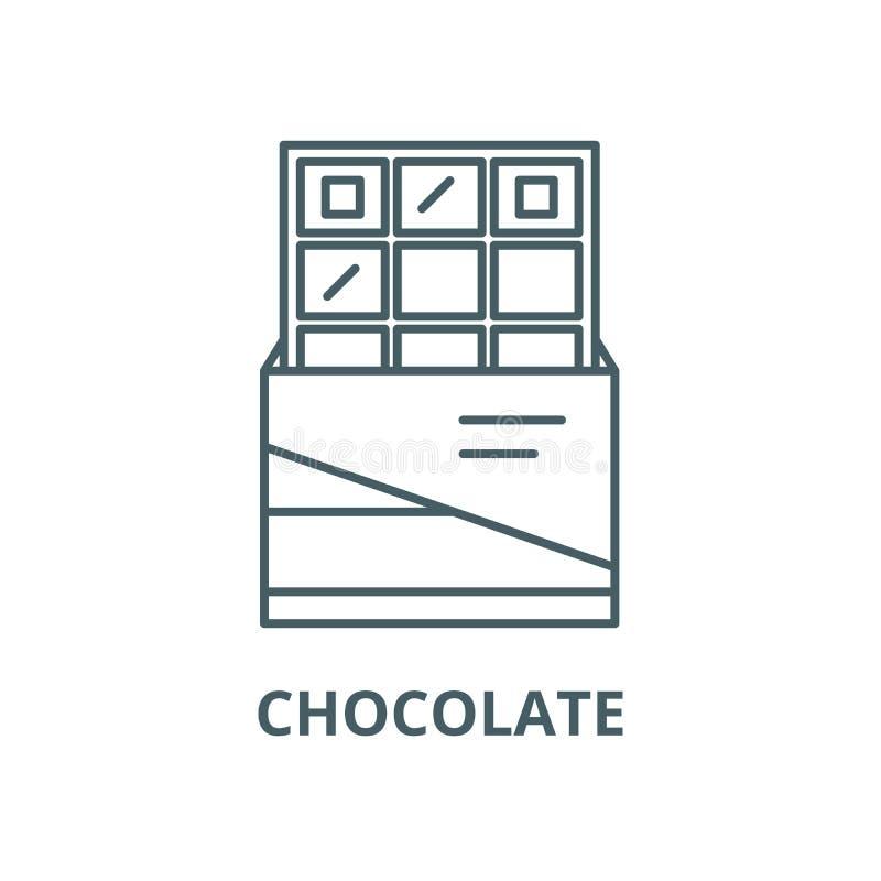 巧克力传染媒介线象,线性概念,概述标志,标志 皇族释放例证