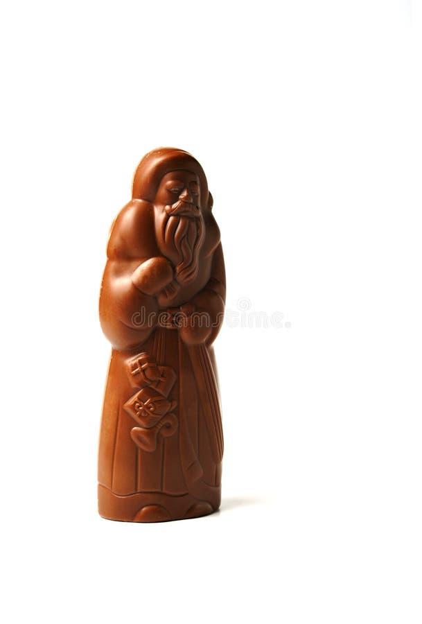 巧克力克劳斯・圣诞老人 库存照片