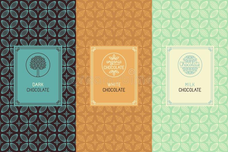 巧克力包装 向量例证