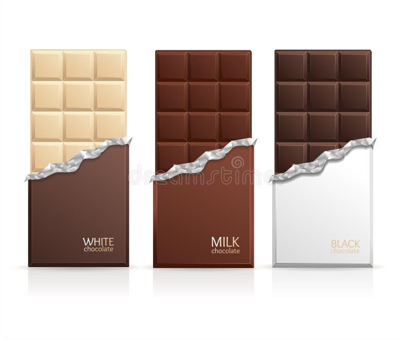巧克力包裹酒吧空白 向量 皇族释放例证