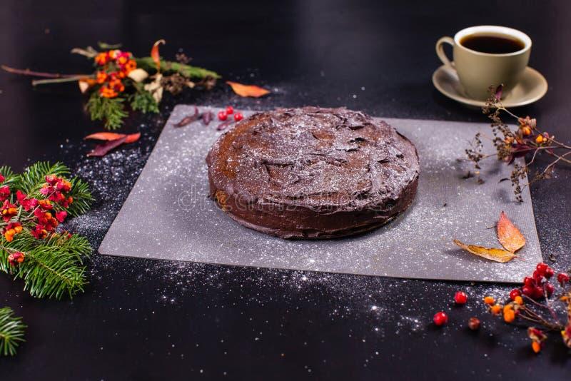 巧克力南瓜蛋糕 免版税库存图片