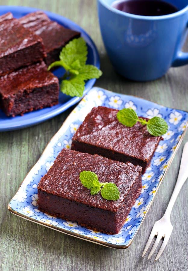 巧克力和南瓜果仁巧克力切片 库存图片