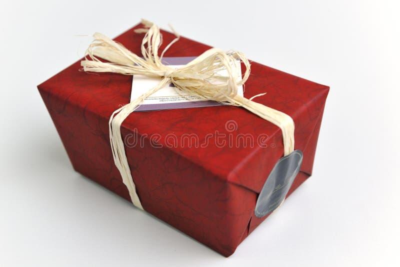 巧克力和果仁糖配件箱 免版税库存照片