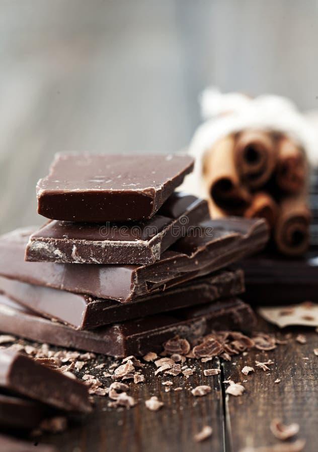 巧克力和桂香 库存图片