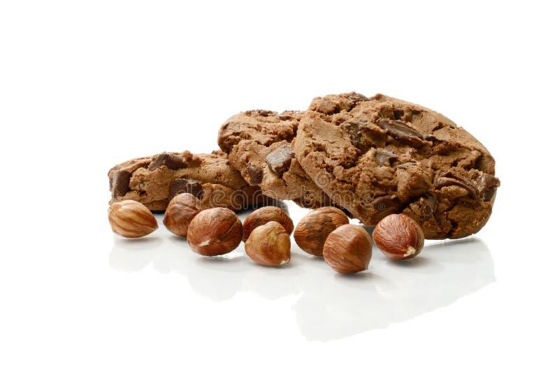 巧克力和榛子曲奇饼 图库摄影
