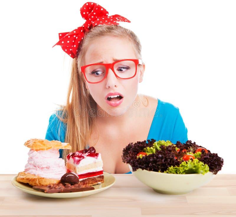 巧克力和蛋糕甜点诱惑 免版税库存图片