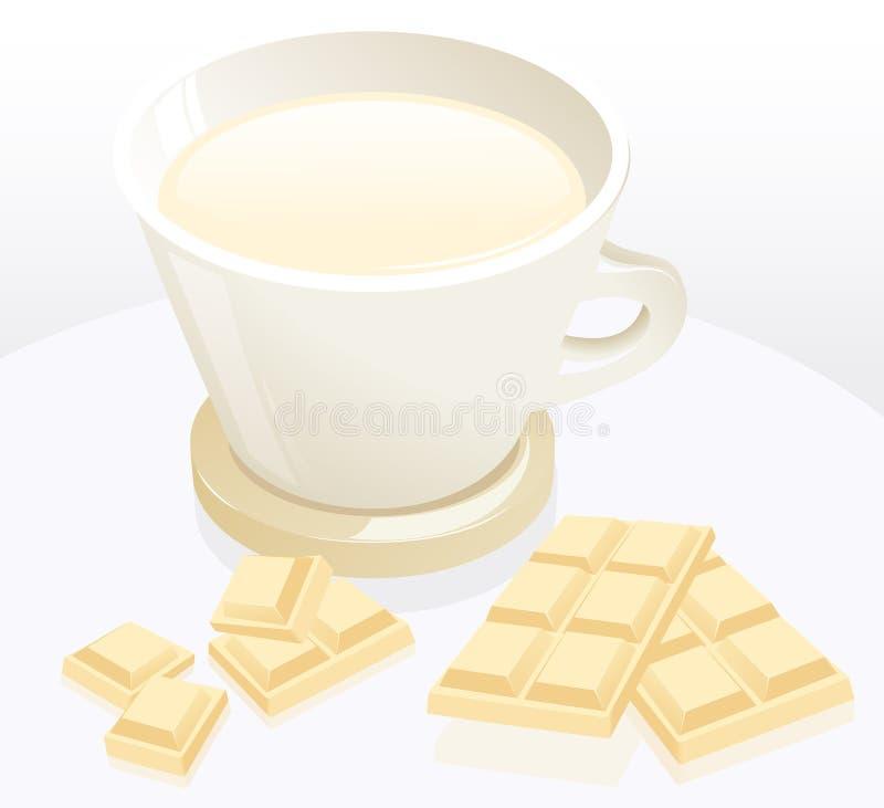 巧克力咖啡杯牛奶 皇族释放例证
