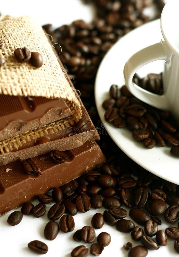 巧克力咖啡杯谷物 库存图片