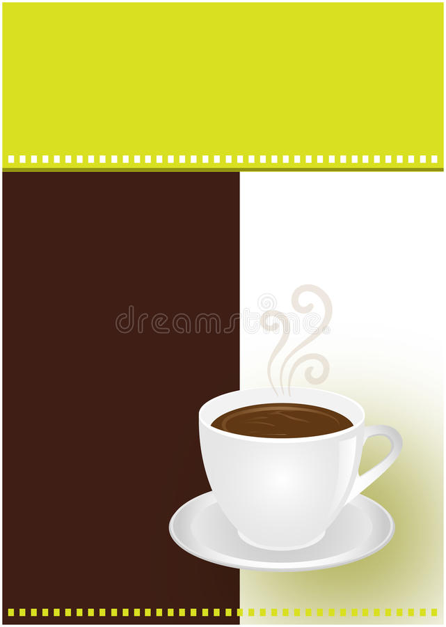 巧克力咖啡杯 库存例证