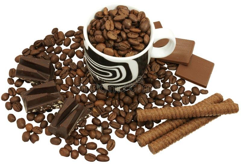 巧克力咖啡 图库摄影