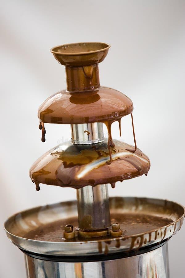 巧克力喷泉 免版税库存图片