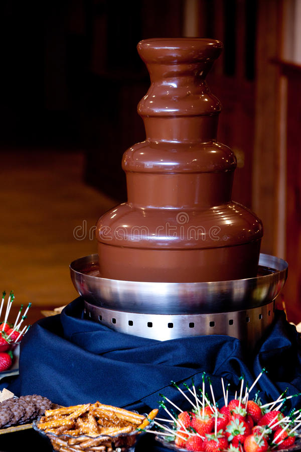 巧克力喷泉 库存图片